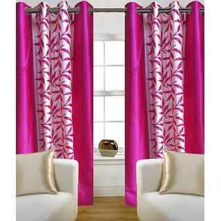 Akash Ganga Kolaweri Design Window Curtain 5 Feet(Set of 2)