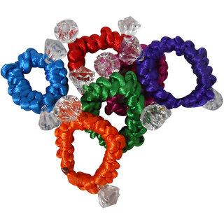 Adbeni Colourful Resham Thread Coated Hair Rubber Bands Good Choice