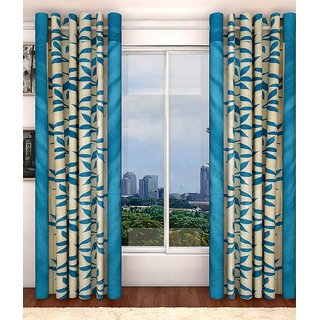 Akash Ganga Kolaweri Design Door Curtain 7 Feet(Set of 2)