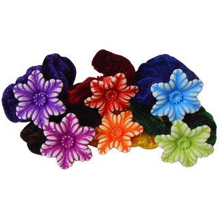 Adbeni Colourful Flower Hair Rubber Bands Good Choice