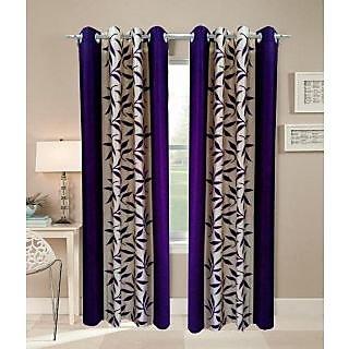 Akash Ganga Kolaweri Design Long Door Curtain 9 feet(Set of 2)