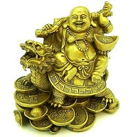 Buy One Get One Free -  Valentine Offer - Laughing Buddha Sitting On Dragon Tortoise For Good Luck