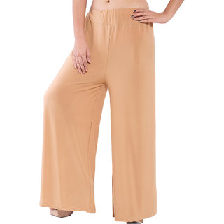 Wetern design Brown color Rayon lycra Plazzo Pant For Women