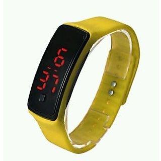 LED Digital Watches Jelly Men/women Yellow Wrist Watch