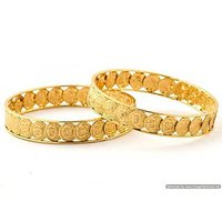 Laxmi Coin Golden Bangle set