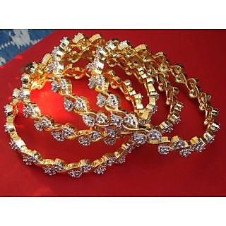 Nazakat Designer AD Pair of 4 Bangals (Model No.401)