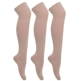 Bonjour Girls Knee High Cotton SocksBRO578SK-02-PO3