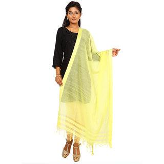 Kataan Bazaar Yellow Viscose Dupatta