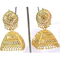 Golden Dulhan Wedding Jhumka Earring