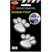 Soonai Foot  Mark Silver Car Sticker
