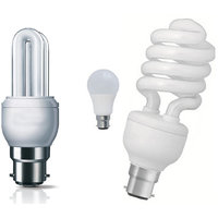 12 W,15 W White Led Bulb (Set Of 2 Piece Cfl Spiral + 15 W 2Piece Cfl + 9W 2Piece Led)