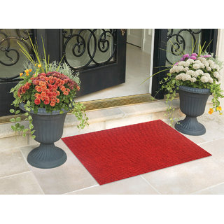 Status Red Nylon Washable Rectangle Door Mat (6 X 9 Inch)