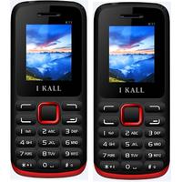 Combo Of IKALL K11 (Blue+Black-Red)