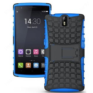 Feomy Kick Stand Armor Hybrid Bumper Cover For One Plus One Blue