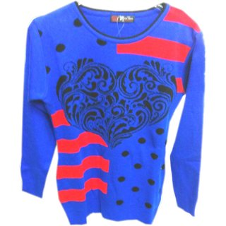 Neha Emporium Winter Wear Woolen Blue Girls Top