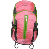 Donex Trendy Stylish 35 L Rucksack with Laptop Compartment Pink Grey RSC00756