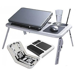 e  table laptop table for pcs and laptop with 2 cooling fan available at ShopClues for Rs.549