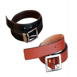 STYLISH COMBO OF MENS BELT ( BROWN BLACK)