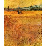 Arles View From The Wheat Fields Printed Painting
