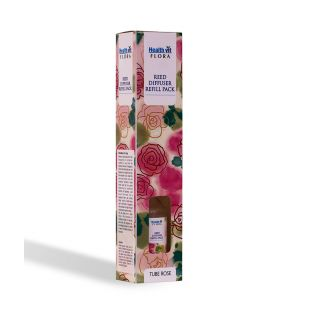 Healthvit Flora Reed Diffuser Refill Pack Tube Rose Fragrance 100ml