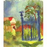 Garden Gate By Macke Printed Painting