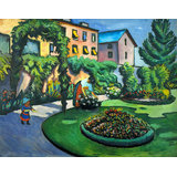 Garden Image By Macke Printed Painting