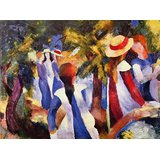 Girls In The Open By August Macke Printed Painting