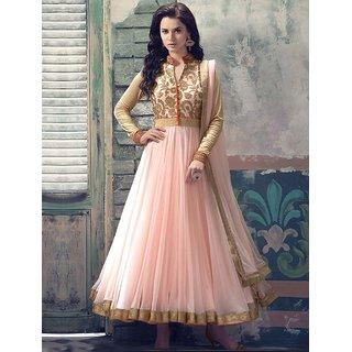 Thankar New Attractive Cream Net Anarkali Suit