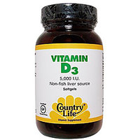 Country Life Vitamin D3 5000 Iu - 200 Softgels