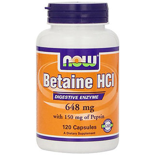 Now Foods Betaine Hcl 648 Mg - 120 Capsules