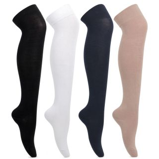 Bonjour Girls Knee High Cotton SocksBRO578A-04-PO4