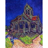 The Church Of Auvers By Van Gogh Printed Painting