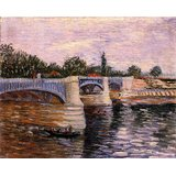 The Seine With The Pont De La Grande Jette Printed Painting