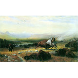The Last Buffalo Printed Painting