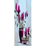 Vase With Pink Flowers Printed Painting
