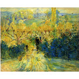 View From The Veranda In Mezy Printed Painting