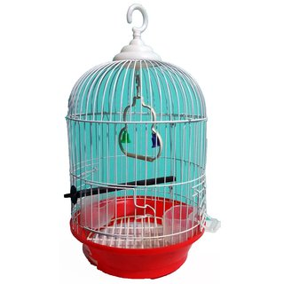 Pet Club51 HIGH QUALITY METAL CAGES LOVE BIRD CAGES -SMALL RED  WHITE