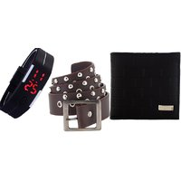 mens designer wallets cheap grsb  Fashion combo pack wallet , belt Led Unisex Watch