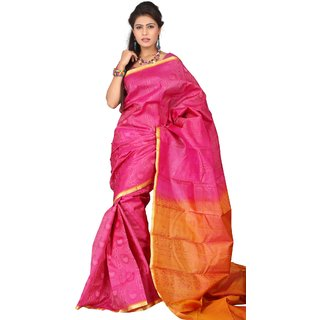 Pure Silk  Kanjeevaram Hand woven Saree-Black-SAB19-Silk