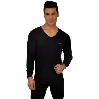 Lux Inferno Plus Full Sleeve V Neck Black Thermal Top (LUXINFBLFSVN90)
