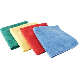 Autostark Mfd-140 Set Of 4 Vehicle Washing Cloth (Multicolor Pack Of 4)