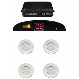 Autostark Psw-470 Premium Universal Cars White Parking Sensor (Ultrasonic Systems)