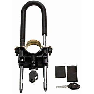Autostark Bwl-90 Universal Bike Front Wheel Lock (Silver Black)