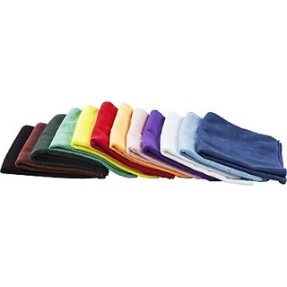 Autostark Mfe410 Set Of 12 Vehicle Washing Cloth (Multicolor Pack Of 12)