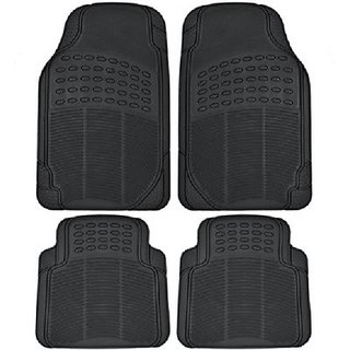 Autostark Black Rubber Floor / Foot Honda Civic Car Mat Honda Civic (Black)
