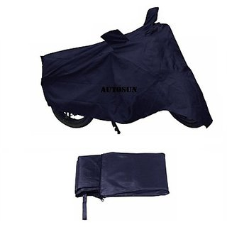 Autostark Imported Fabric Suzuki Hayate Two Wheeler Cover (Blue)