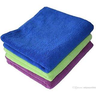 Autostark Mfb105- Set Of 3 Vehicle Washing Cloth (Multicolor Pack Of 3)