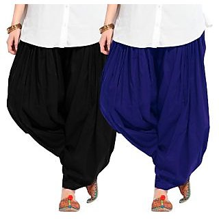 Combo - Blue n Black Full Patiala Salwar