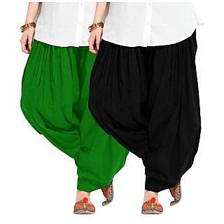 Combo - Green n Black Full Patiala Salwar
