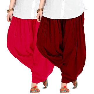 Combo - Magenta n Maroon Full Patiala Salwar